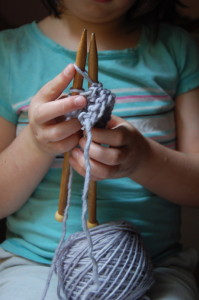 child_knitting