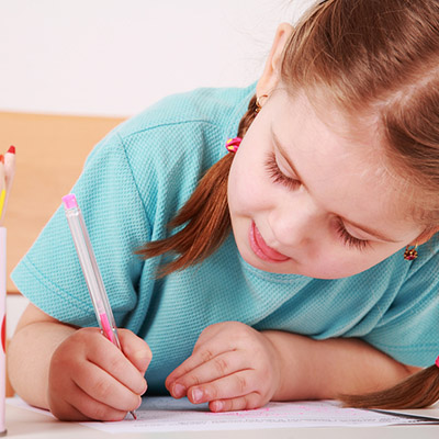 Does your child demonstrate poor posture when writing or creating artwork by slouching or moving their whole arm and trunk when coloring?