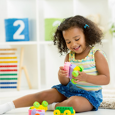 Does your child play with a limited exclusive repertoire of games or toys and resist playing with new things?