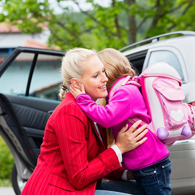 Does your child's look express a desire to stay home from school or ask you to pick he or she up early?