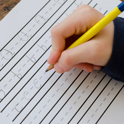 Does your child start letters at the bottom and push the pencil away from them when writing or move their entire arm when forming letters?