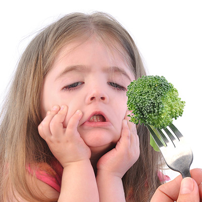 Does your child's diet omit entire food groups such as vegetables or fruits?