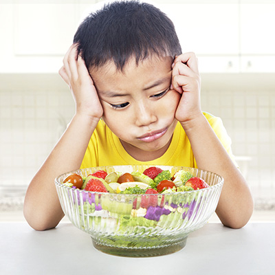 Does your child seem uninterested in food and never - if ever - expresses hunger to you?