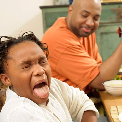 Does your child gag or spit out food on a regular basis if challenged to eat new foods or by the smell of foods alone?